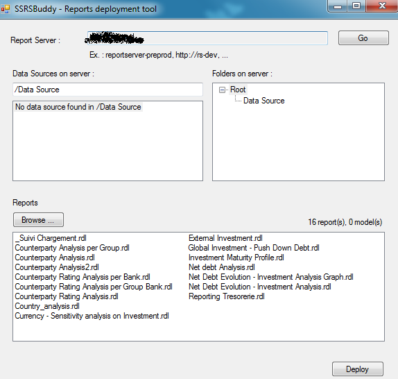 SSRS report deployment tool (SSRSBuddy)