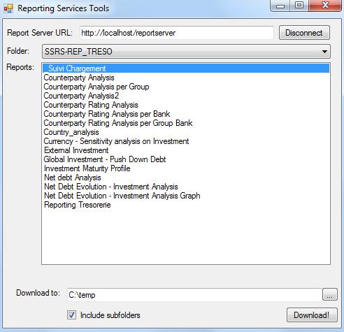 SSRS Report Downloader