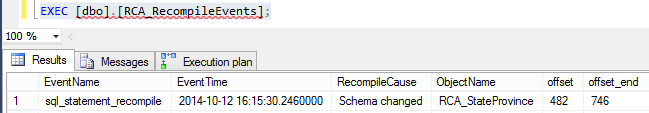 SQLRecompile