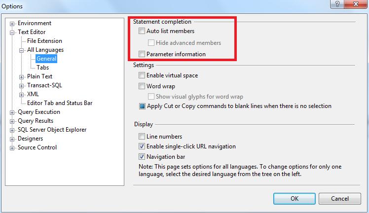 SQL_SERVER_OPTIONS