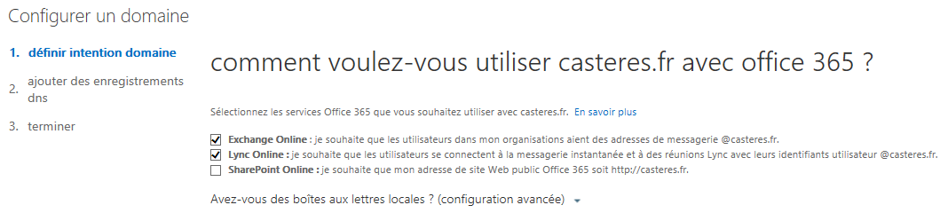 ConfigDomaineOffice365