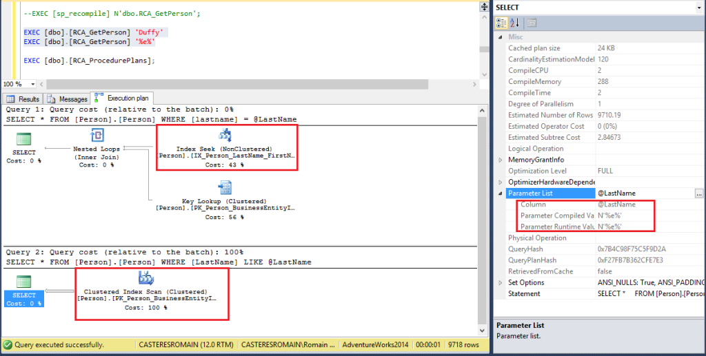 SQL_WITH_RECOMPILE
